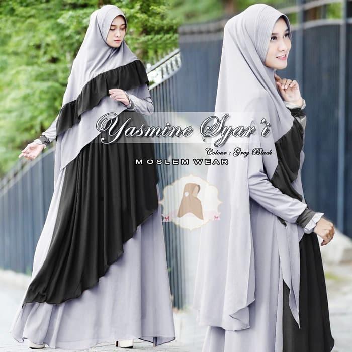 Jual Baju Busana Muslim Wanita Gamis Syari Pesta Yasmine Terbaru ... 5d8764f240