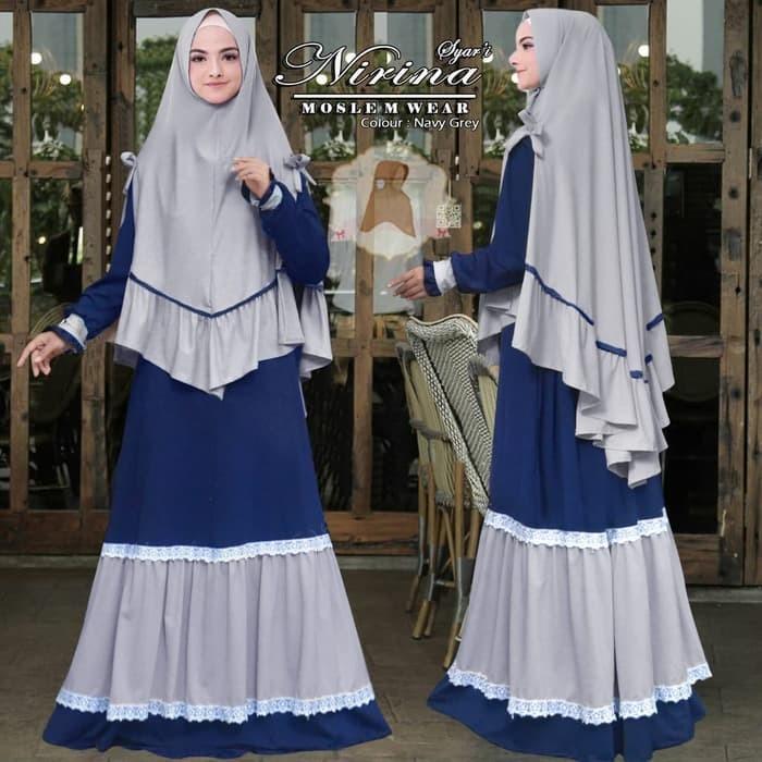 Jual Baju Busana Muslim Wanita Gamis Syari Pesta Nirina Renda ... e813bf070b