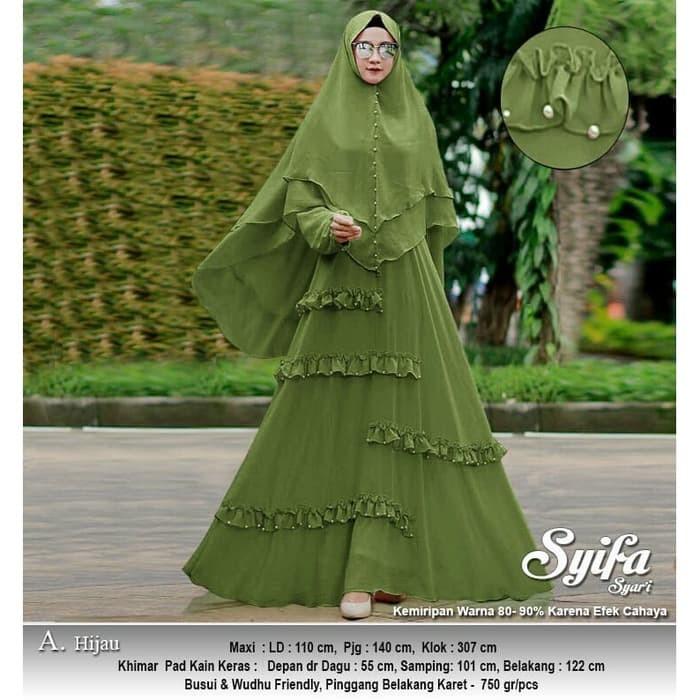 Jual Baju Busana Muslim Wanita Gamis Syari Pesta Syifa Ceruty ... 498549cf4c