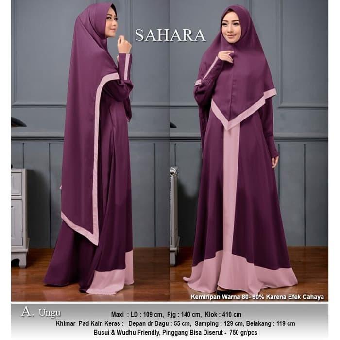 Jual Baju Busana Muslim Wanita Gamis Syari Pesta Sahara Terbaru ... ffc06a35f9