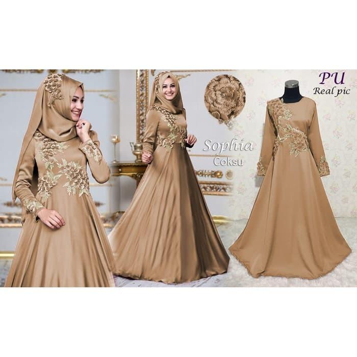 Jual Baju Busana Muslim Wanita Gamis Syari Pesta Sophia Terbaru ... 408638079c