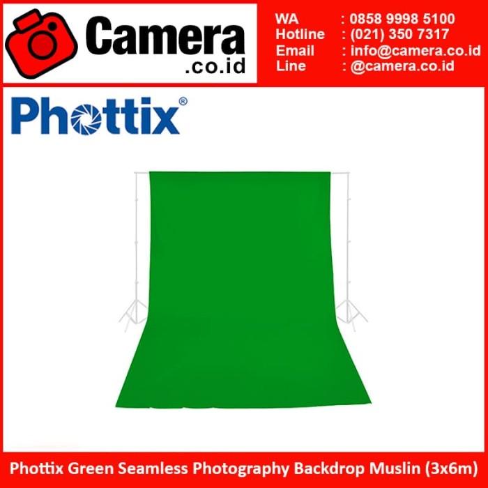 harga Phottix green seamless photography backdrop muslin (3x6m) Tokopedia.com