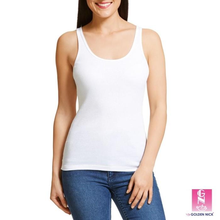 Jual Kaos Dalam Wanita   Singlet Golden Nick Warna Putih - Putih 7c5e9ebb7d