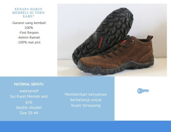 sepatu Gunung SNTA KARRIMOR Trekking hiking Outdoor Pria Casual Coklat -  Cokelat 422d60bc5f
