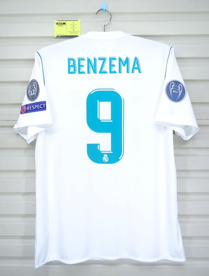 7671000ae Jual Real Madrid 2017-18 Home. Final KIEV. BENZEMA. Original Jersey ...