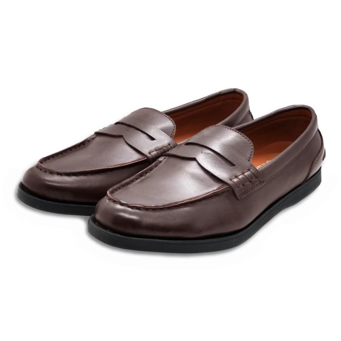 0d6099174bd Jual Sepatu Kulit Penny Loafer Classic Brown Heiden Shoes - Cokelat ...