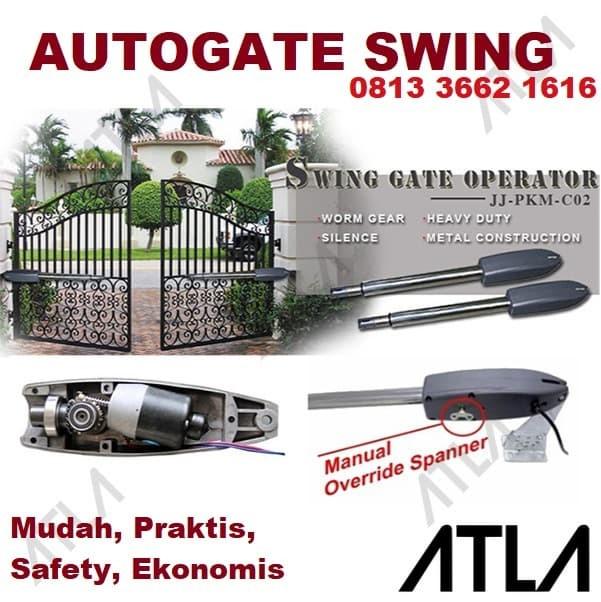 Foto Produk Mesin Pembuka Pintu Pagar Kupu Otomatis Autogate Auto Door Swing Gate dari Atla Agrikultur