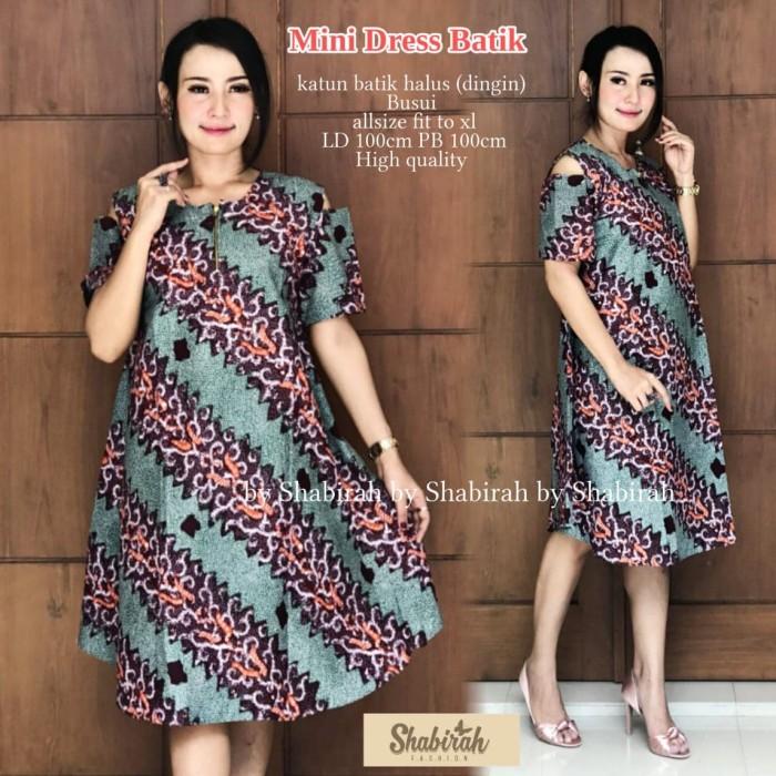 Jual Mini Dress Batik Busana Wanita Fashion Baju Batik Modern Batik Pendek Kota Surakarta B Fashionos Tokopedia