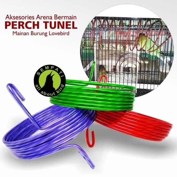harga Perch tunel spiral karet tempat arena mainan sangkar kandang burung Tokopedia.com