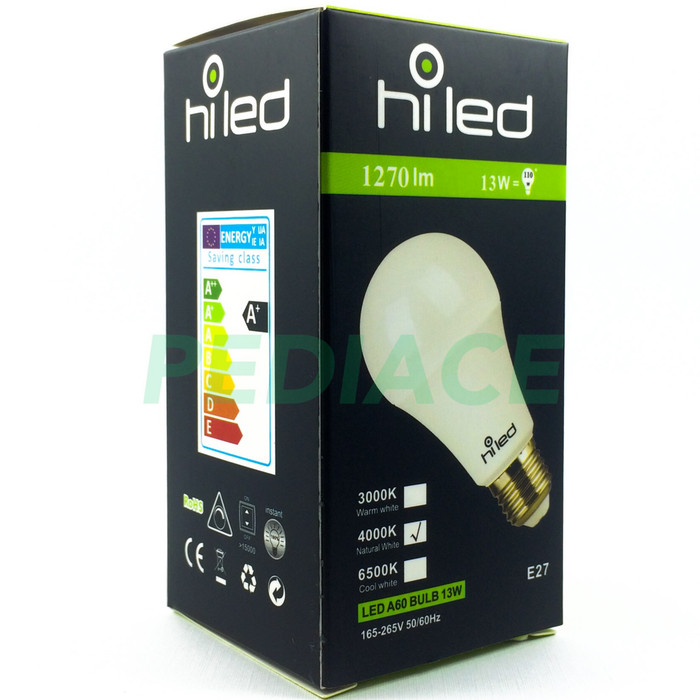 harga Lampu bohlam led hiled bulb 13w 13 watt natural white 4000k e27 1270lm Tokopedia.com