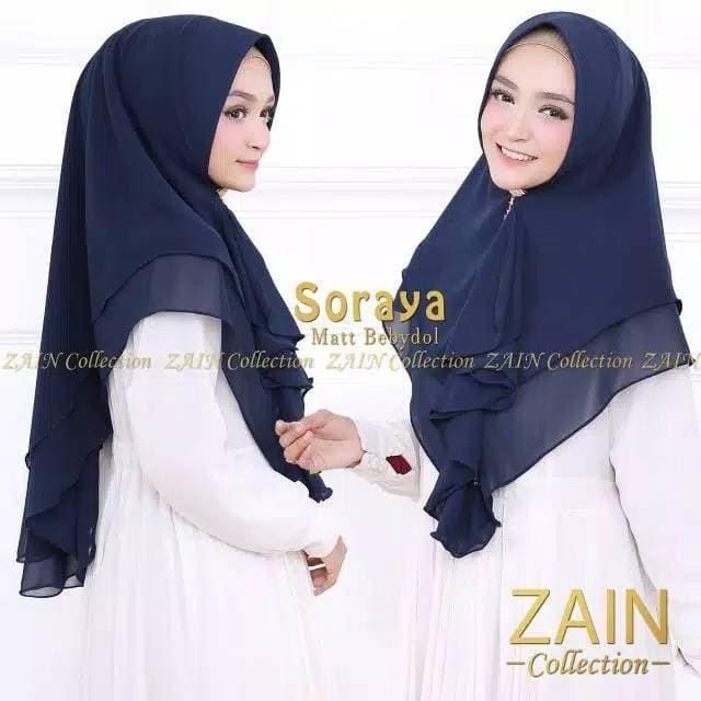 Jilbab Khimar Zain Soraya / Hijab Wanita Murah