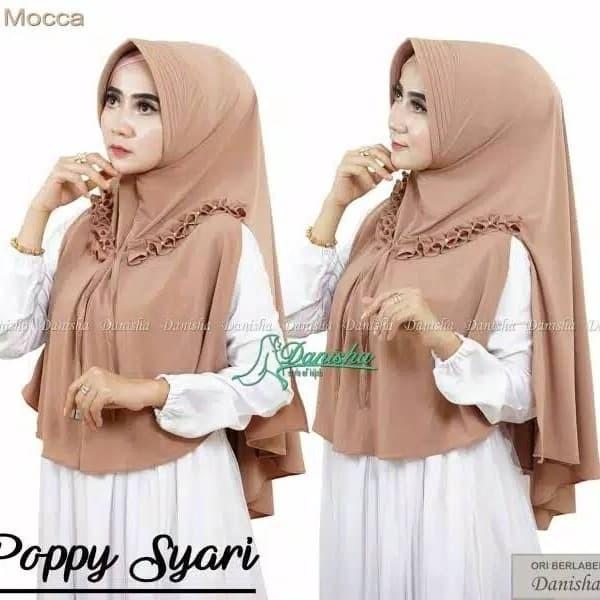 Jilbab Khimar Danisha Poppy Syari / Hijab Wanita Murah