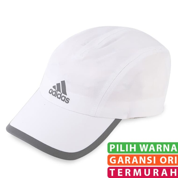 Jual Topi ADIDAS Wanita Original Terbaru Run ClimaLite Running Putih ... f44289f9be