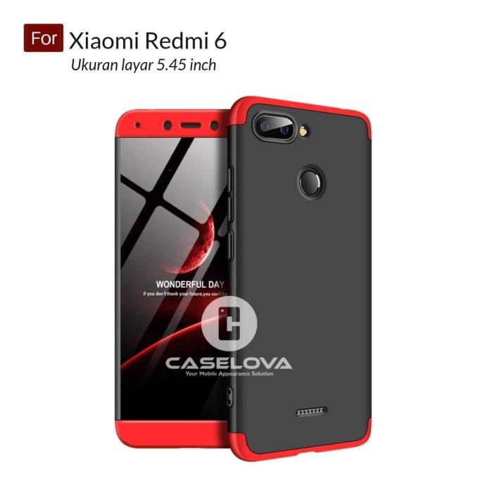 the best attitude 65b1d 77c53 Jual Case GKK 360 Front Back Hardcase Xiaomi Redmi 6 - Hitam - Kota Bekasi  - Caselova Store | Tokopedia
