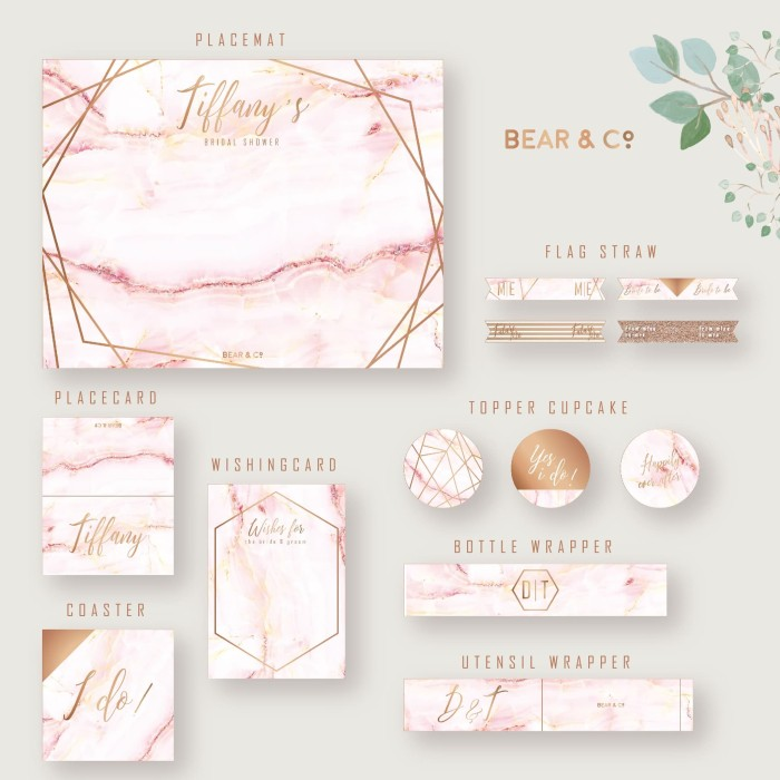 image relating to Si Printable Bracket called Jual Purple Marble Concept Bridal Shower Printables - Desk Preset Decoration - Kota Surabaya - Go through and Co Tokopedia