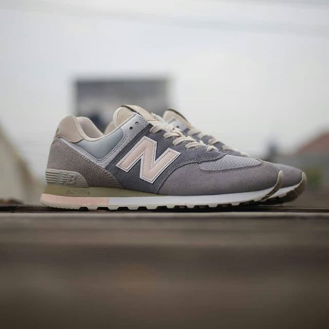 new style 08209 28798 Jual New Balance 574 BSG Pale blue and Brown. Material Canvas and suede Ori  - Kab. Sleman - 4StationFootwear | Tokopedia