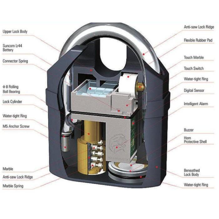 Jual Best Gembok Pengaman Dengan Alarm Waterproof Untuk Motor Pintu ... 50aa481818