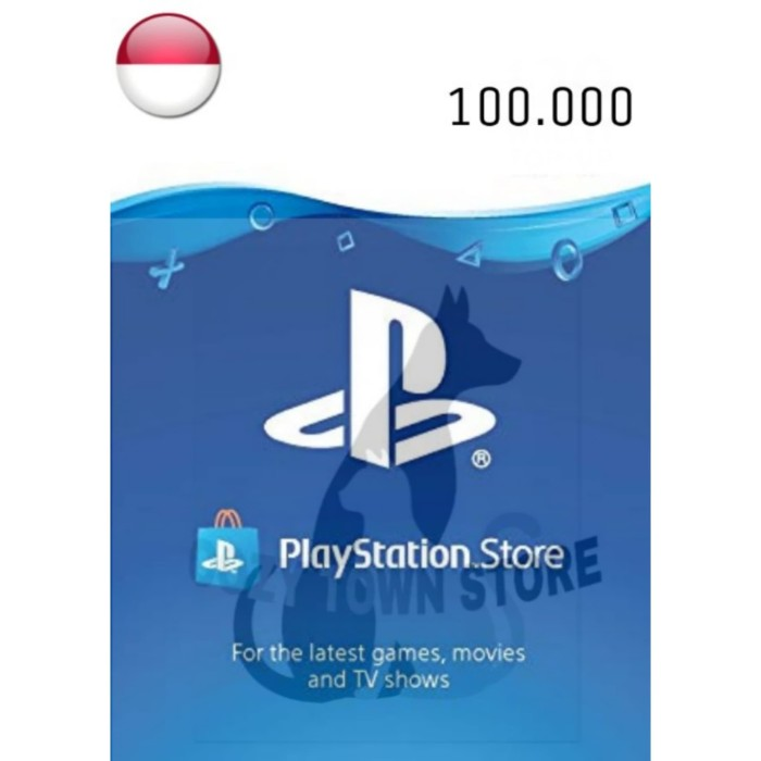 Jual PSN Gift Card | Playstation Voucher | PSN Wallet IDR 100 000 PS4/VITA  - Cozy Town Store | Tokopedia