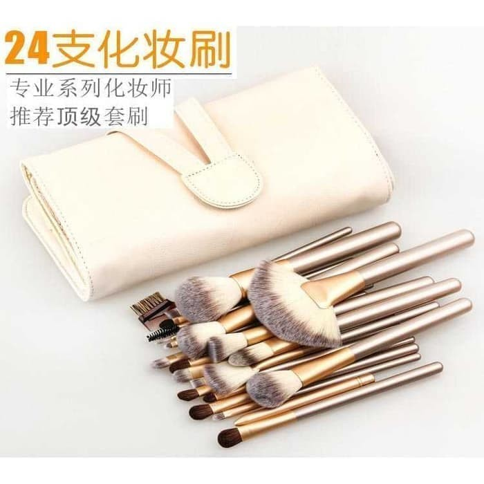 Set kuas makeup 24pcs 24 pcs tas brush make up persia pouch bag case
