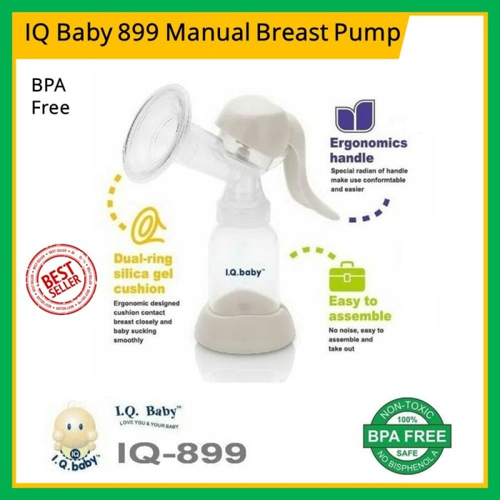 Portable Manual Breast Pump with Lid BPA-Free Breastpump Ergonomic Handle