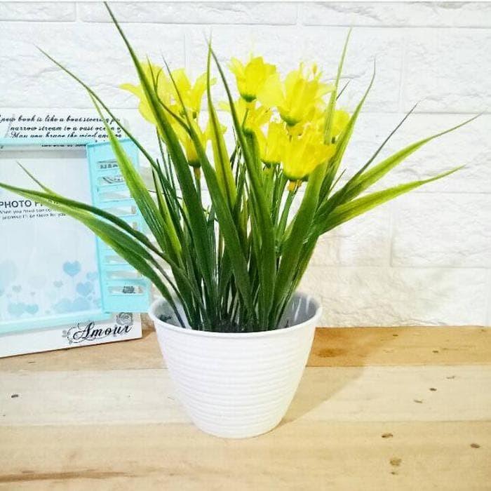 Rumput bunga plastik artificial palsu ikea dekorasi rum Berkualitas 2e7332936b