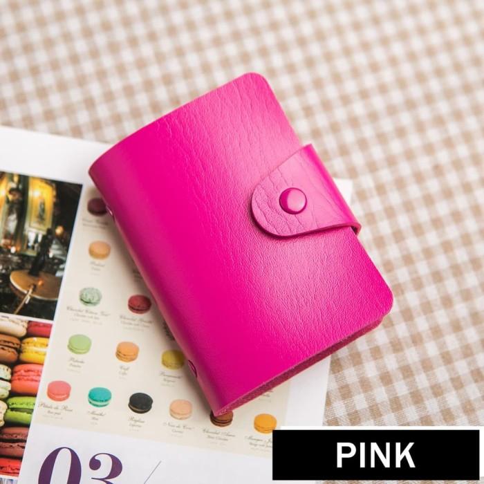 Dompet Kartu 24 Pc - Pink Diskon