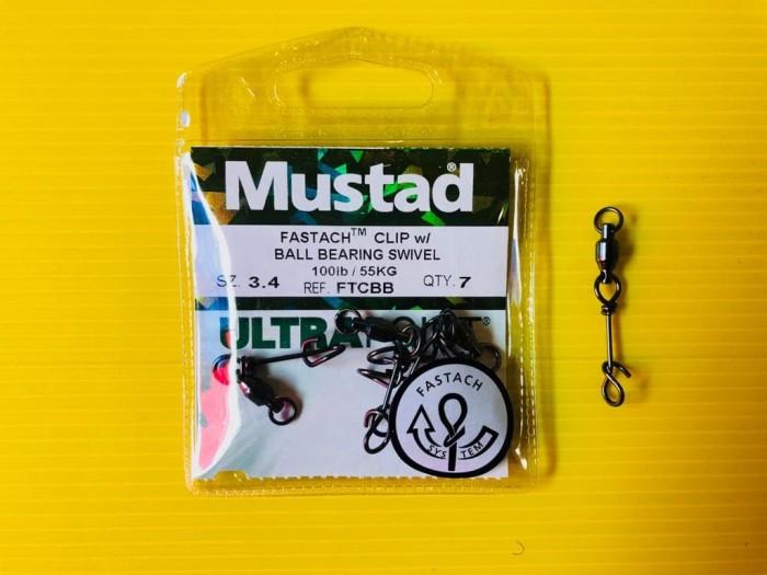 harga Mustad fastach clip with ball bearing swivel no. 3.4 Tokopedia.com
