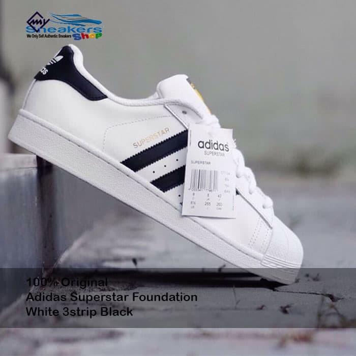 My Adidas Superstar Sneakers Jual ShopTokopedia White Kota 3strip Black Tangerang 100Original Foundation 4qc5jLSAR3
