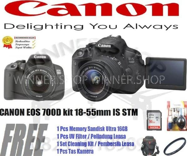 Jual Promo Terbaru Canon Eos 700d Kit 18 55mm Is Stm Canon 700d Eos Store Adinda5 Tokopedia