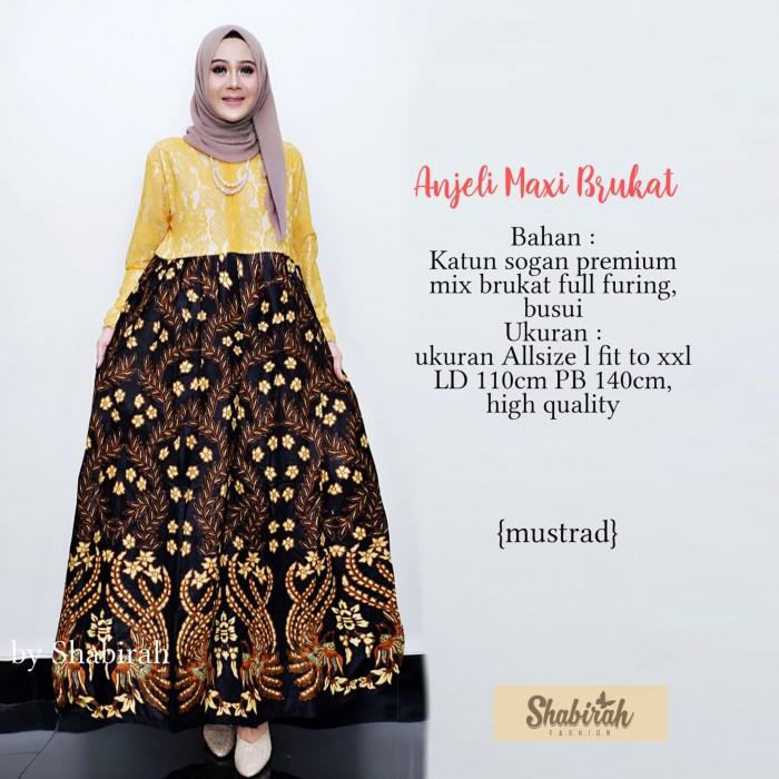 Jual Sb Gamis Batik Solo Anjeli Maxi Dress Brukat Batik Kerja Kartinian Kota Surakarta My Shabirah Store Tokopedia