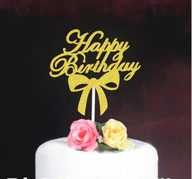 Cake Topper Happy Birthday HBD / Tusukan Hiasan Kue