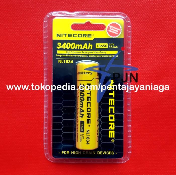 Foto Produk Baterai Li-ion NITECORE 18650 NL1834 3400mAh 3.7V dari pentajayaniaga