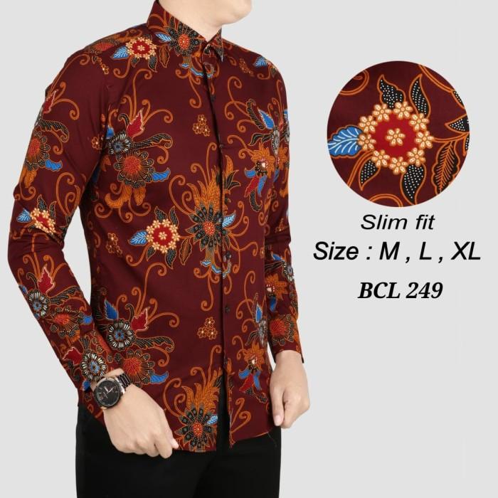 harga Batik pria kemeja slimfit priabaju batik cowok bcl 249 Tokopedia.com