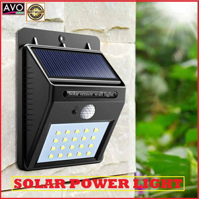 Jual Lampu Solar Tenaga Matahari Surya Taman Tembok Dinding Sensor Outdoor Kota Depok Avo Grosir Tokopedia