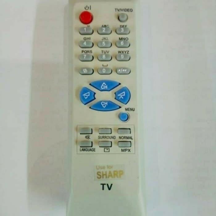 Remote remot tv sharp putih