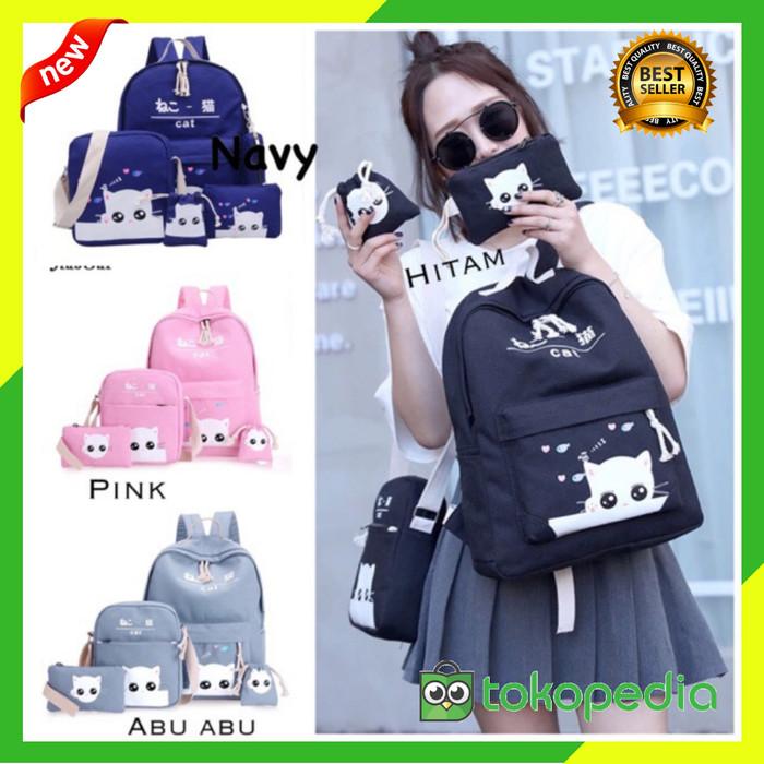 Tas wanita 3 in 1 tas ransel backpack tas mini tas ransel wanita korea