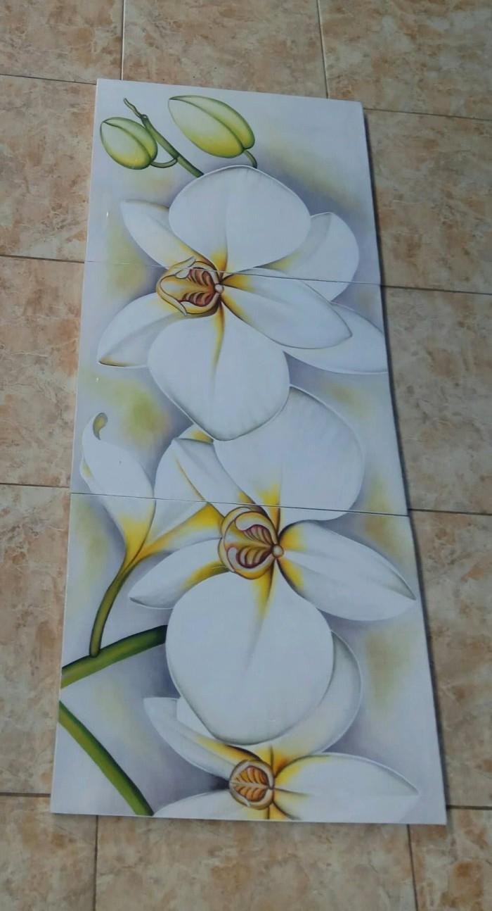 Jual Dekorasi Rumah Lukisan Murah Flower Anggrek Bulan White Kab Gianyar Amanda0903 Tokopedia