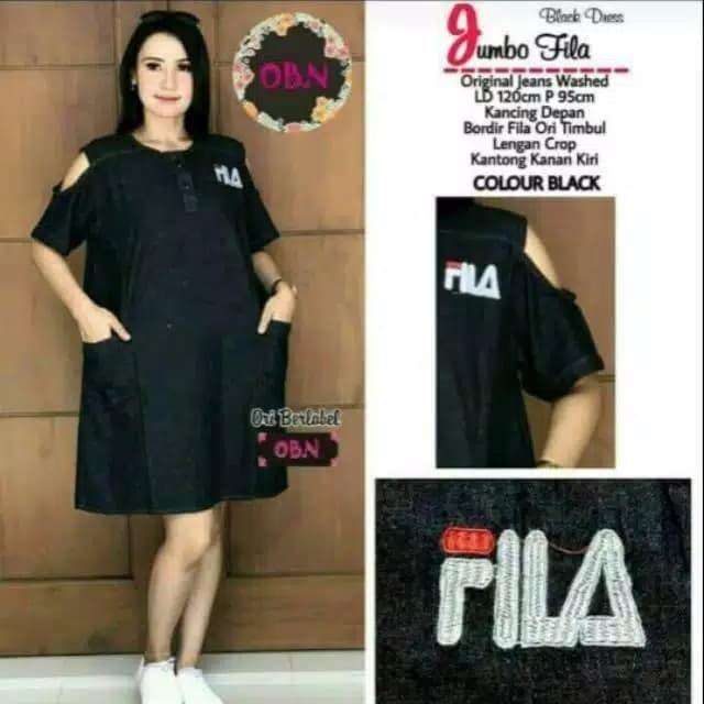 Jual Baju Dress Wanita Pundak Bolong Sabrina Jumbo Besar Big Size c351c1ed09