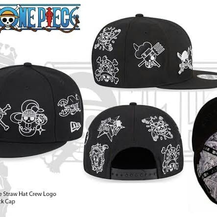 harga Topi new era cap x one piece 9 jolly roger strawhat crew Tokopedia.com