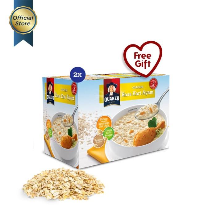 Quaker instant oatmeal kari ayam box 12s - 2 pcs [gwp] [p]
