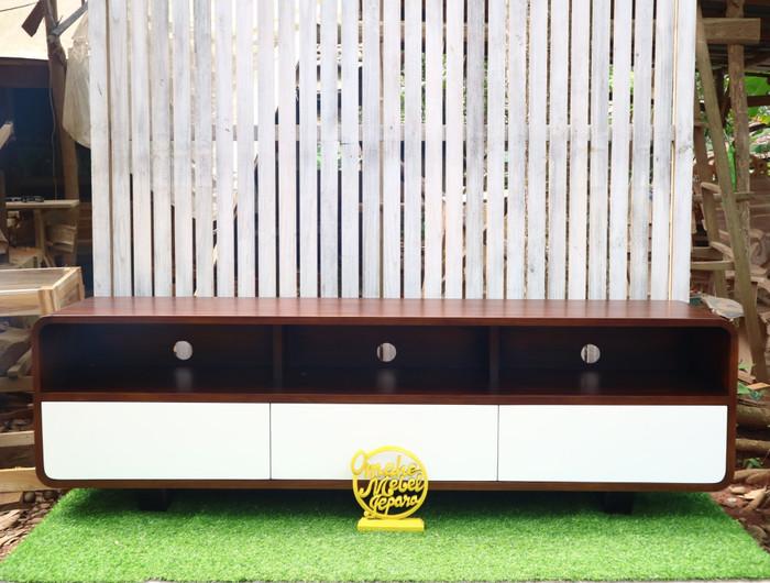 Jual Cabinet Tv Stand Modern Kab Jepara Omahe Mebel Jepara Tokopedia