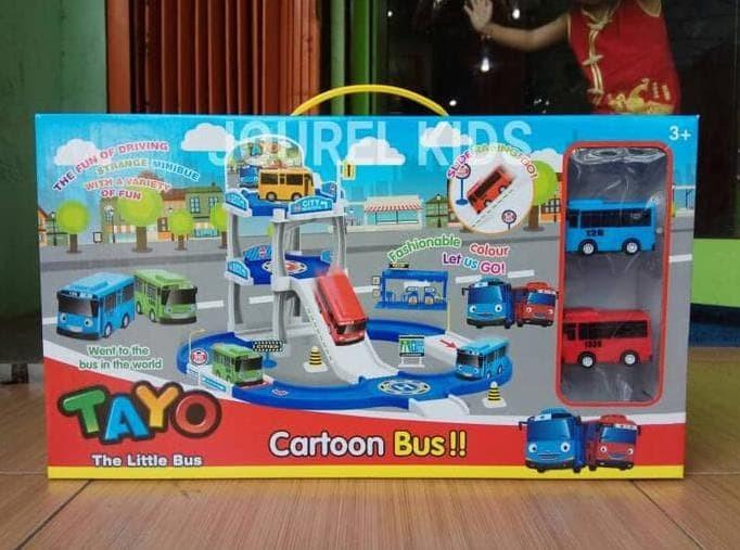 Mainan Anak Tayo The Little Bus Parking Area Track Set