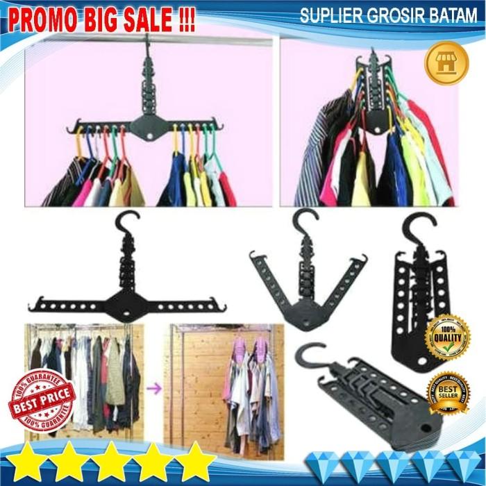 ... harga Gantungan baju magic hanger wonder hanger terbaru praktis aman kuat Tokopedia.com