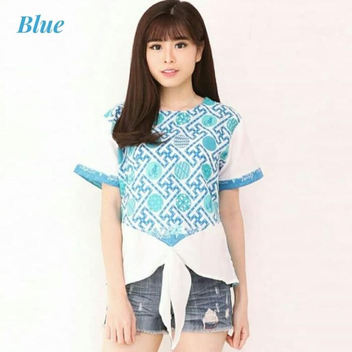 harga Blouse batik cewek modern atasan etnik cantik fashion wanita murah Tokopedia.com