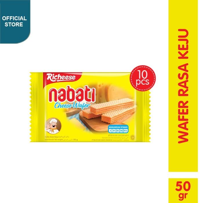 Richeese Nabati Wafer Keju 50 Gr 10 Pcs Harga