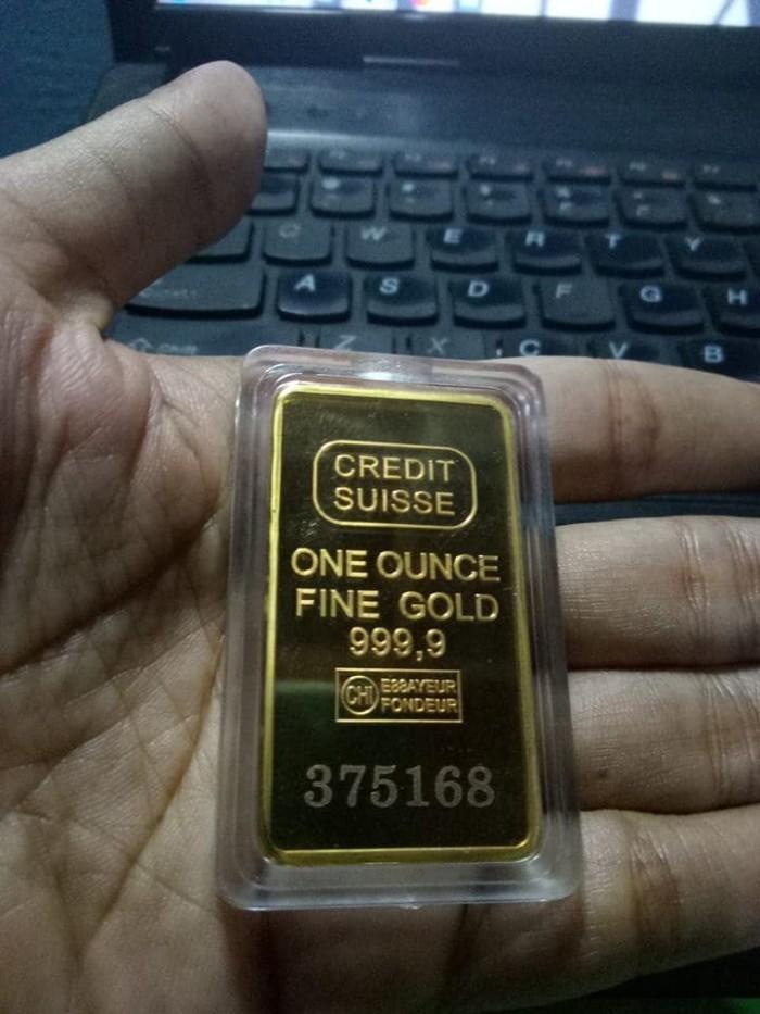 Jual Replika Emas Batangan Credit Suisse Untuk Koleksi Dan Hadiah