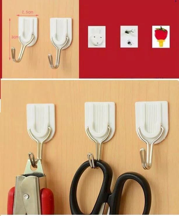 Foto Produk Gantungan Hook Multifungsi / Gantungan Dinding 1set isi 6 pcs dari stevenyenshop