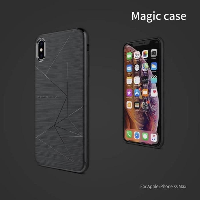 IPhone 6.5 / IPhone XS Max NILLKIN Magic Qi Wireless Charger Case - Hitam