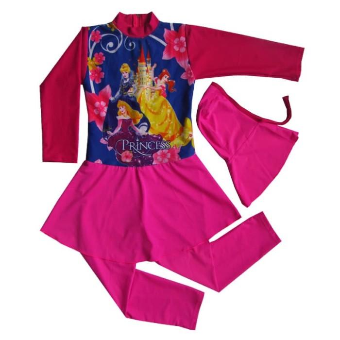 Baju Renang Anak Muslim Karakter Princess Bram - K183tk (Terusan)