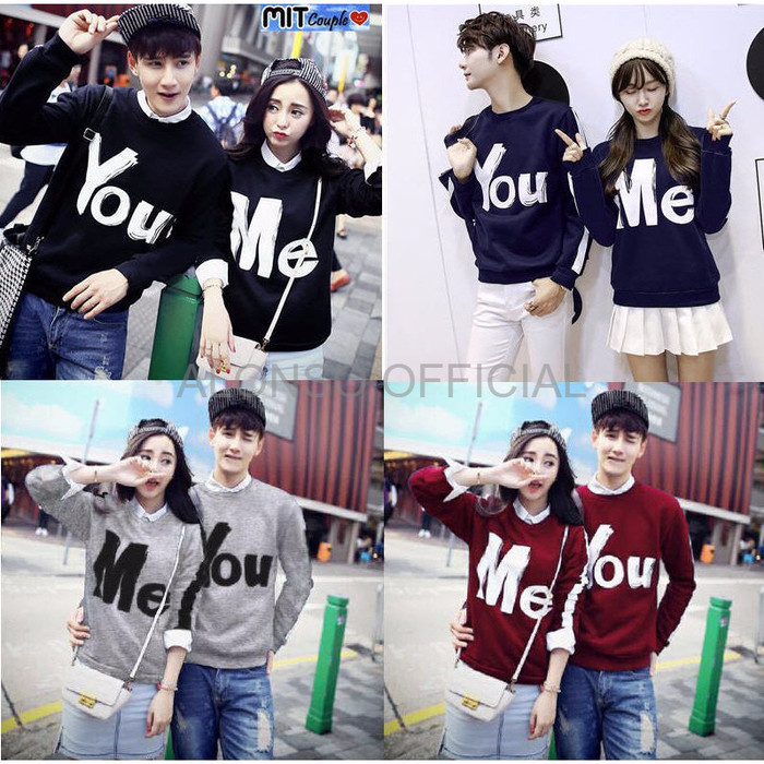 ... SWEATER HOODIE WANITA COUPLE BAJU PASANGAN SWEATER COUPLE LP YOU ME